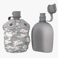 digital military canteen 2 3d model