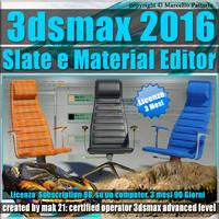 3ds max 2016 Slate e Material Editor 3 Mesi Subscription