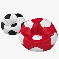 chair bag ball 3d obj