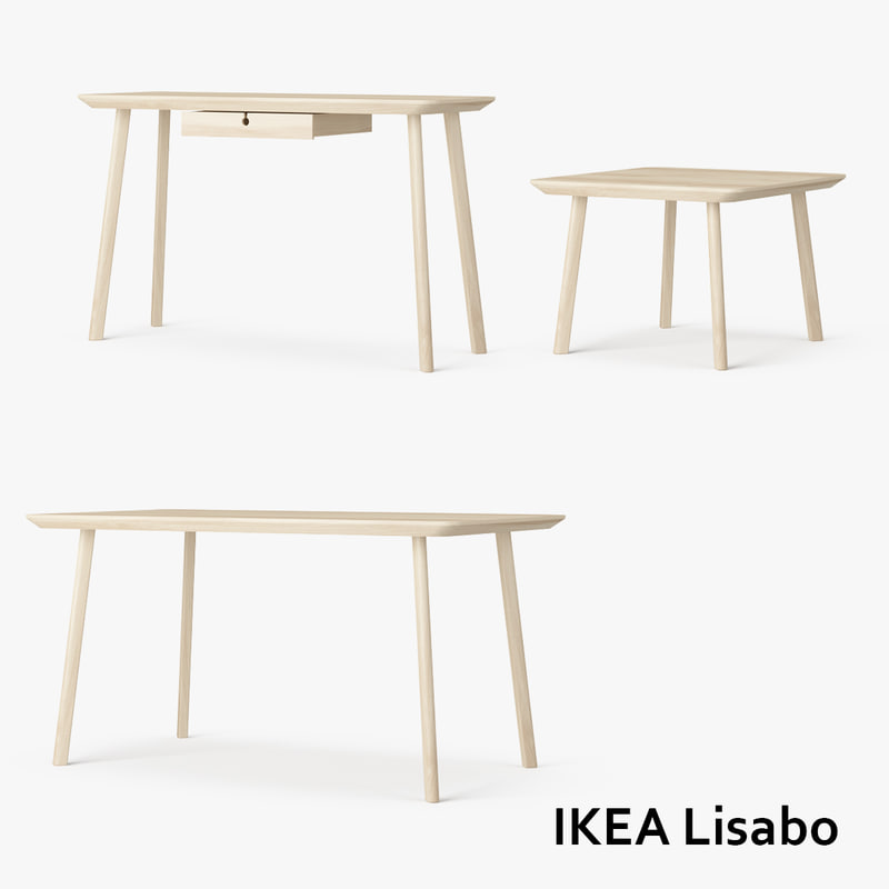 3d model set ikea lisabo tables. Black Bedroom Furniture Sets. Home Design Ideas