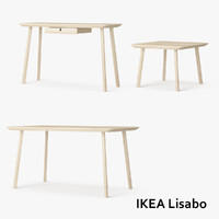 3d model set ikea lisabo tables