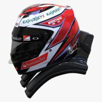 3d racing helmet kimi 2015