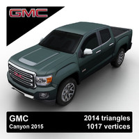 3d model gmc canyon 2015 pickup truck
