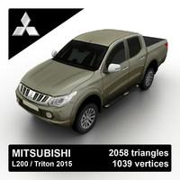 3d l200 triton 2015 pickup truck