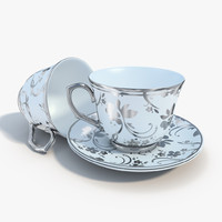 3ds max tea set