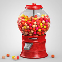 3d model gumball machine gum