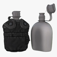 1QT Military Canteen 6 (Black)