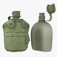 3d military canteen 7 containing