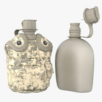 digital military canteen 3d model