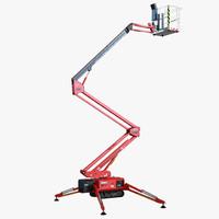 telescopic boom lift red max