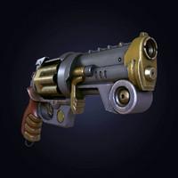 maya steampunk revolver