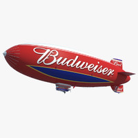 3d budweiser blimp model