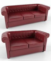 photorealistic chester sofa 3d model