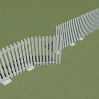 3d dwg picket fence