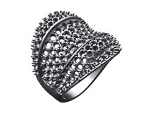wave ring pave 3d 3ds