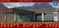 3d desert burger shop