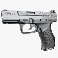 gun walther p99 3d max