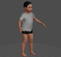 3d boy rigged animation