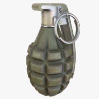 mk grenade 3d fbx