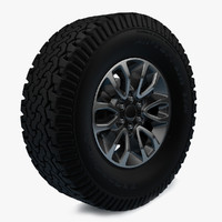 raptor svt f-150 wheel 3d max