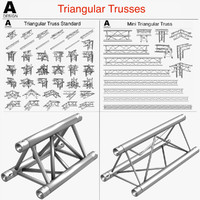 triangular trusses 002 3d model