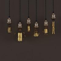 3d model edison lamps