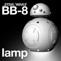 star wars lamp printing 3d model