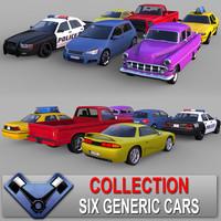 3d generic cars 02 sedan model