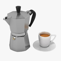 3d espresso set model