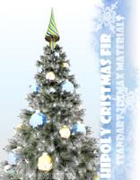 3d model christmas fir