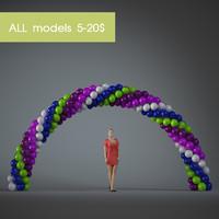 3d model balloon arch