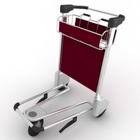 3d airport luggage cart
