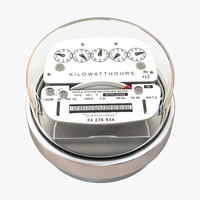 3d model analog electricity meter