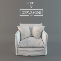 armchair ghost gervasoni 3d 3ds