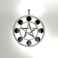 maya lunar pentacle pendant