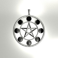 blend lunar pentacle pendant