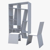 library cabinet 3d model