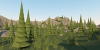 3d landscape mountain model