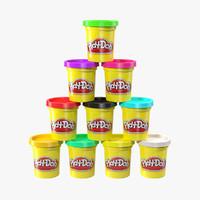 3d model play-doh case colors