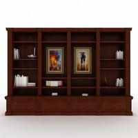 3d classic bookshelf
