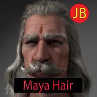 3d old man hair - model