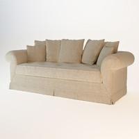3d model sofa soft provence