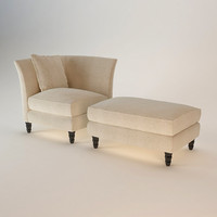 3d baker vicomtesse lounge chair