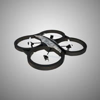 3ds max parrot drone