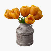 3d tulips old milk