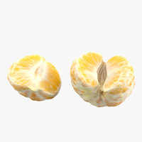 3d model pealed mandarin