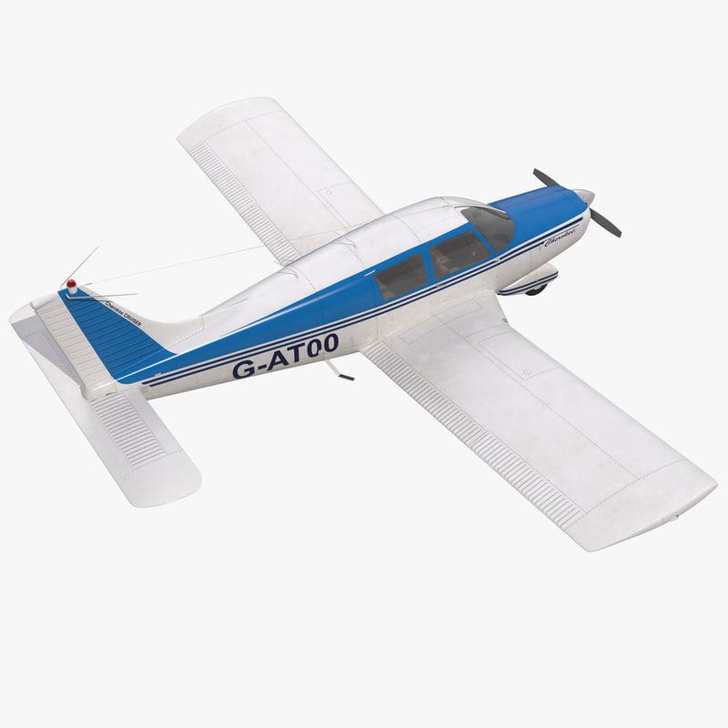 Light Aircraft Piper PA 28 Cherokee 3d model 01.jpg