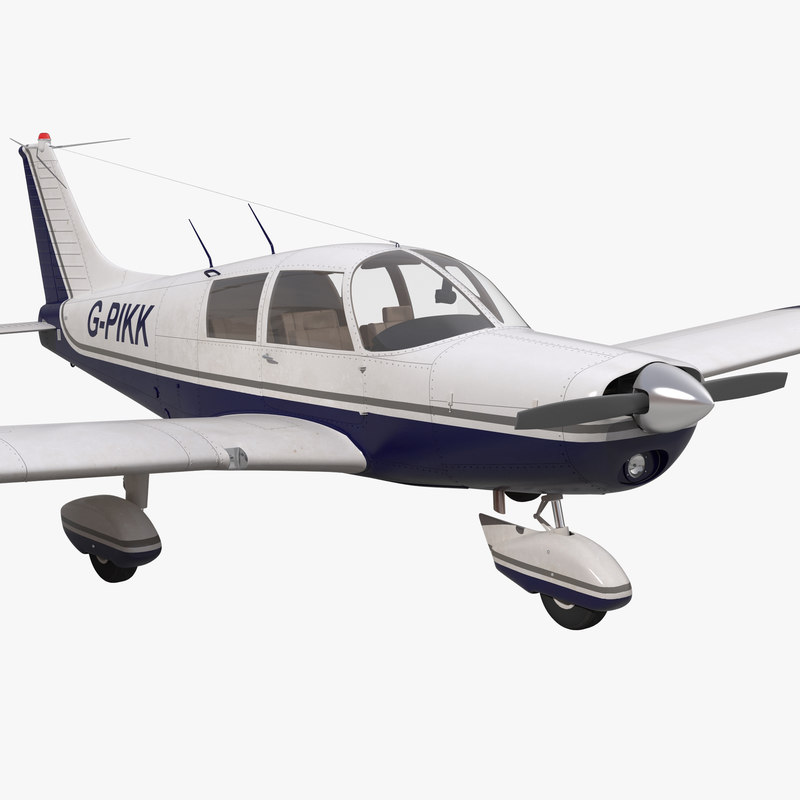 Light Aircraft Piper PA-28 Cherokee 3d model 01.jpg