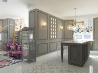 3d interior glamorous apartments model