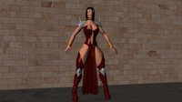devil woman 3d model